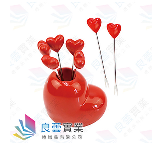 愛心水果叉