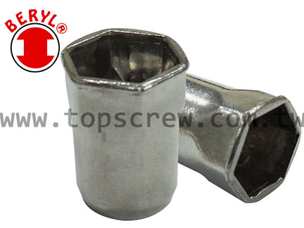 Half-Hexagon Rivet Nut HSM&HSI series