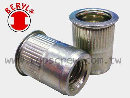 Small Flange Splined Rivet Nut TSSS