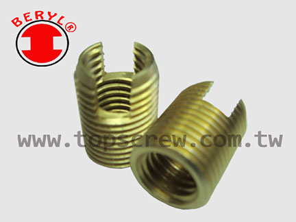 Self Tapping Threaded Insert Slotted