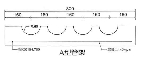 A型水泥管架