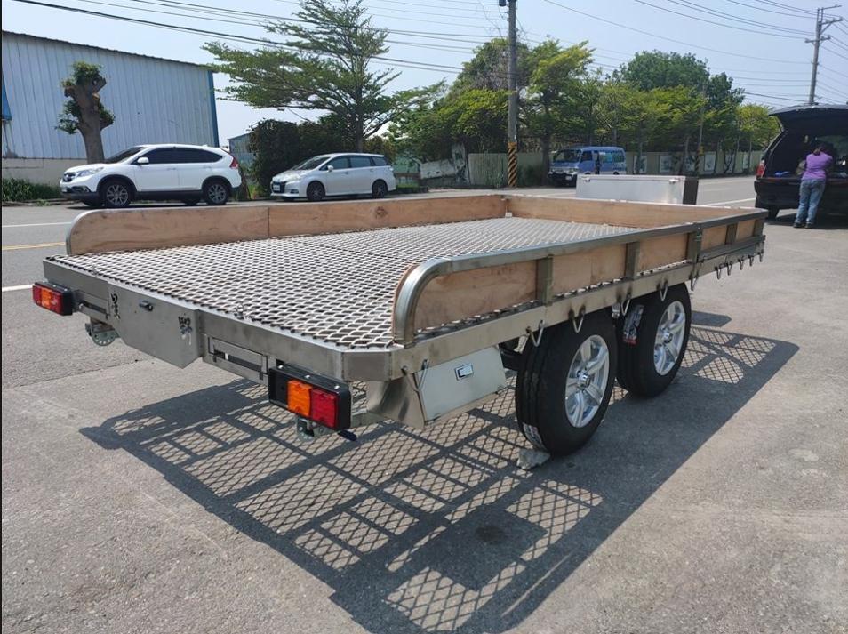 雙軸框式拖車(附車頂