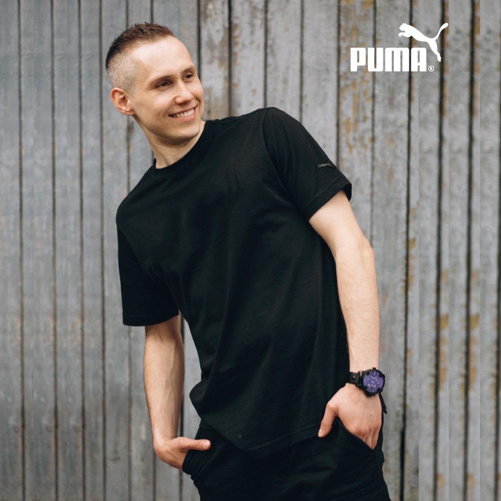 Puma彈性運動精梳棉T恤-中性版
