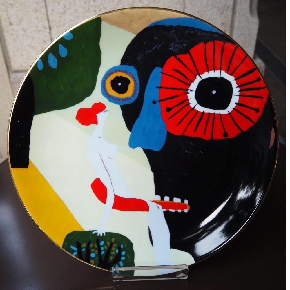 瓷盤(12寸鑲金邊瓷
