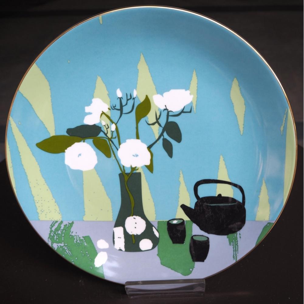 瓷盤(12寸鑲金邊瓷盤)