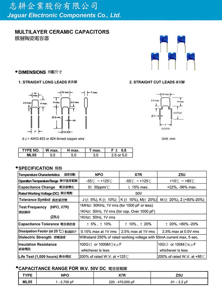 積層陶瓷電容器 (立