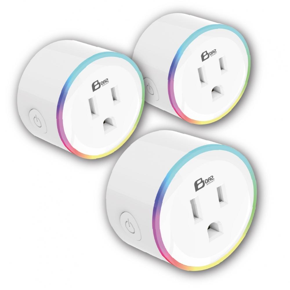 【波阿斯智慧館】WI-FI智能圓形插座 無線遙控/定時器-3入組
