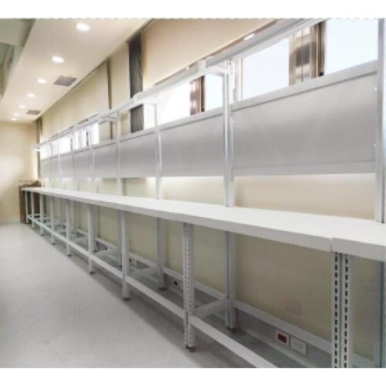 管柱型全鋼板工作桌(