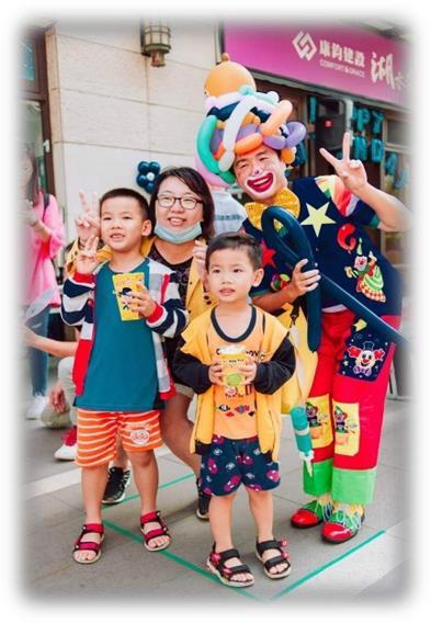 桌邊小丑折氣球、街頭藝人小丑