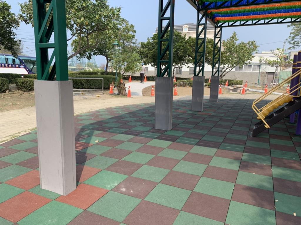 公園鋼架保護墊