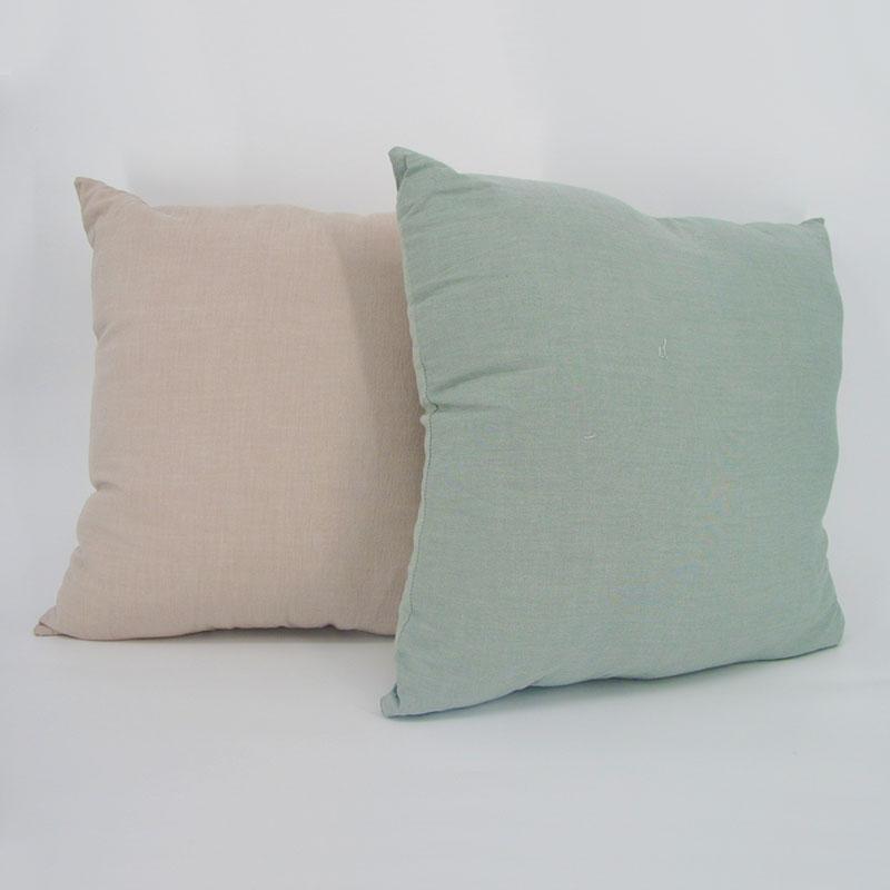 純色棉麻抱枕套 純棉