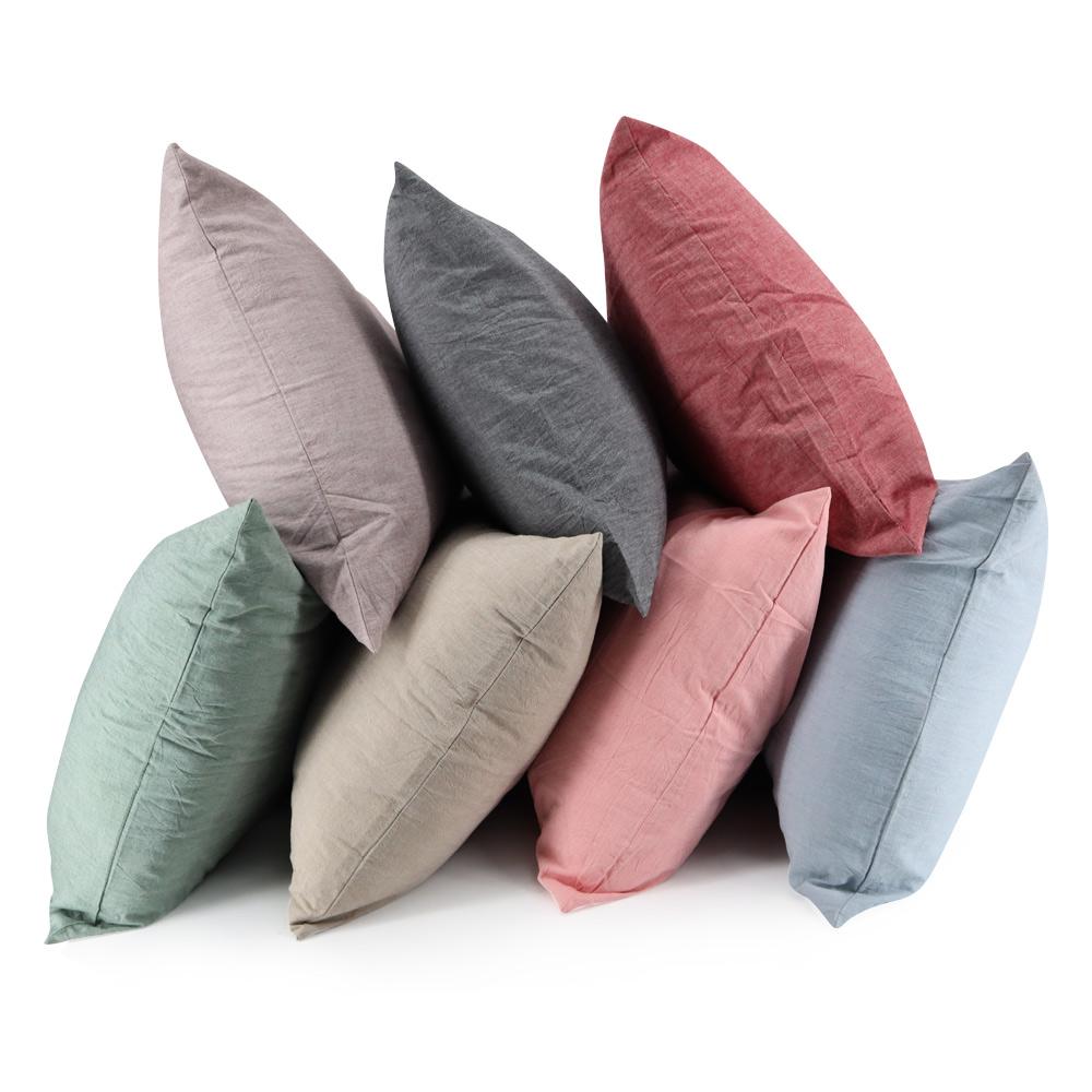 純色棉麻枕頭套