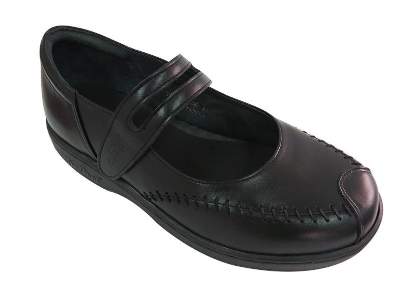 健康黏帶娃娃鞋(黑色)/台中健康鞋推薦
