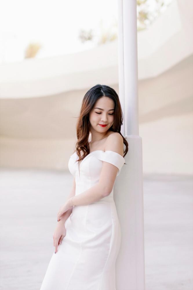 NWF08白色緞面精