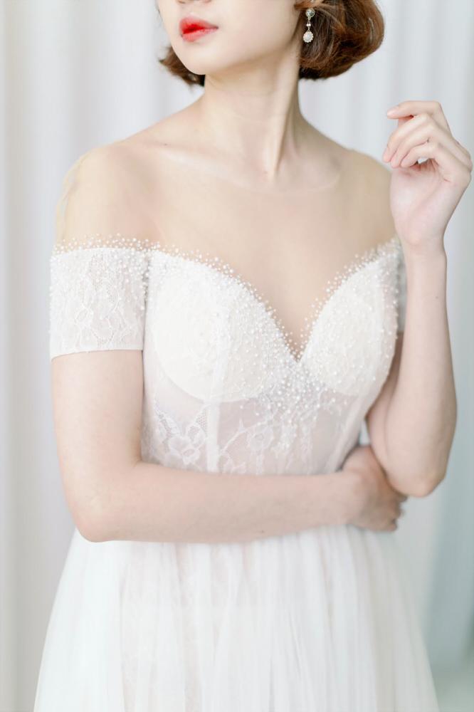 NWA09白色短袖蕾
