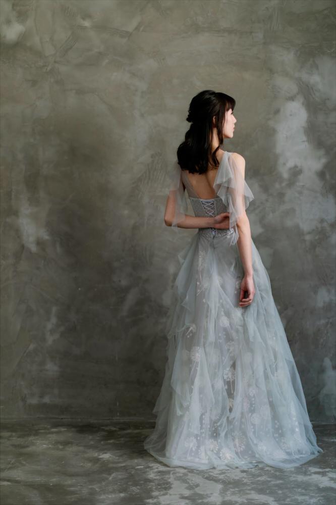 NSK013蒲公英仙袖典雅晚禮服