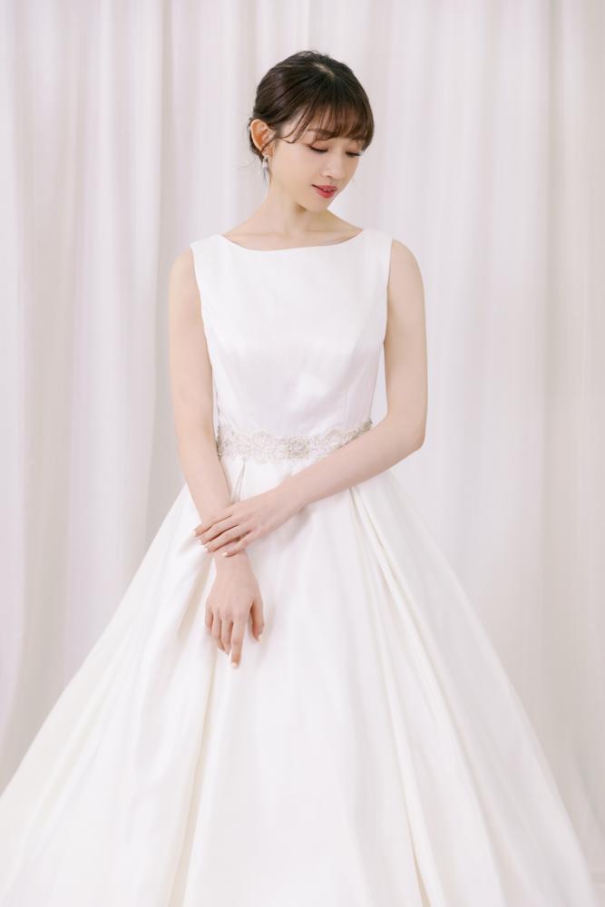 NWA20背透紗繡蕾絲緞面精緻婚紗