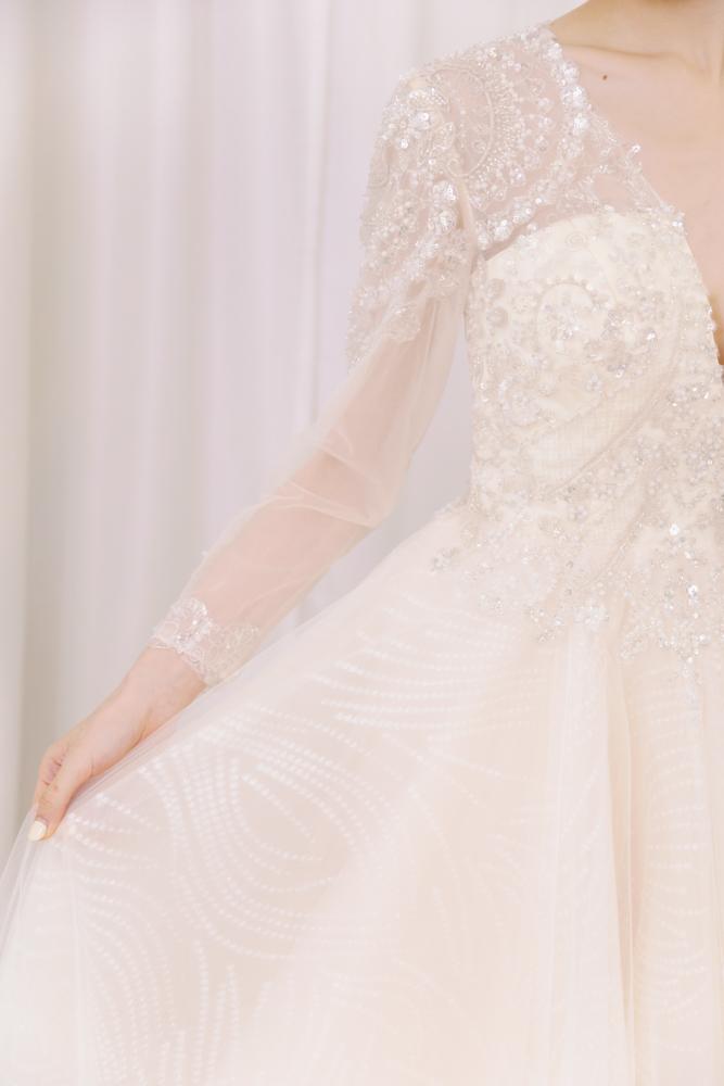 NWA19長袖背鏤空韓式精緻婚紗