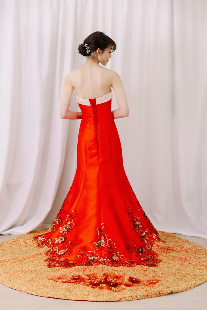 NR18平口魚尾中國風晚禮服