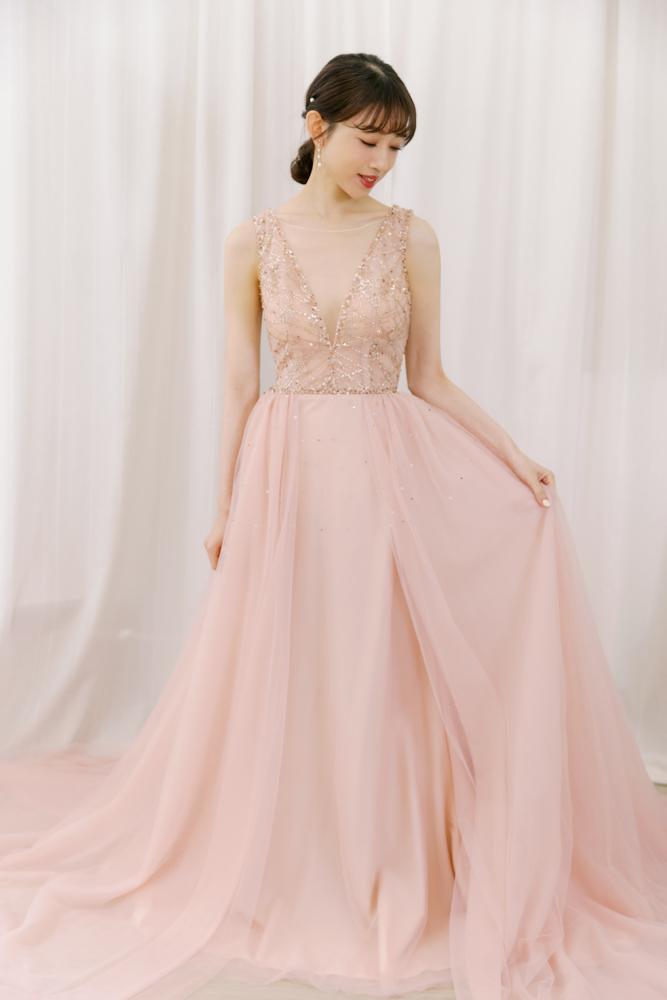 NPK08粉色繡金亮