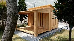 有涼亭的狗屋設計