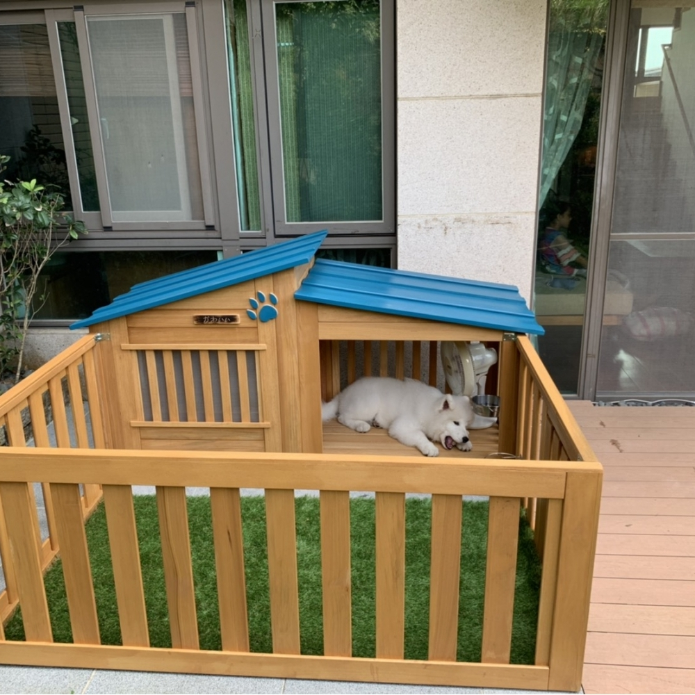 帶圍籬的高檔狗屋設計