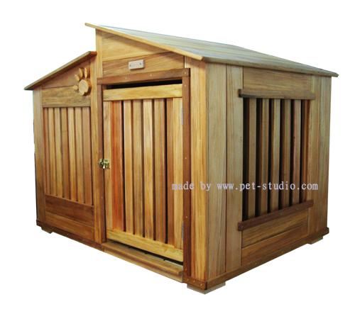 原木設計狗屋,老麥狗