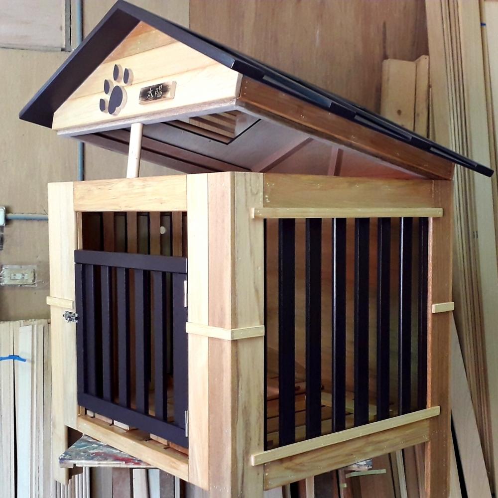 屋頂可分離狗屋設計製作