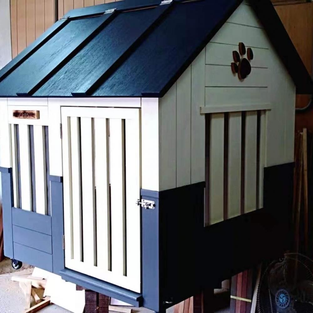 氣質高雅的日式風狗屋。