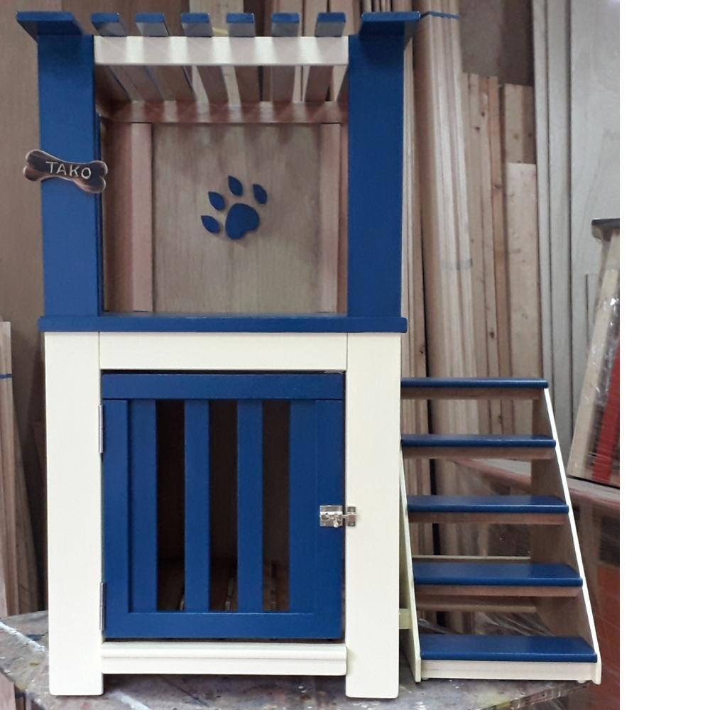 雙層樓狗屋,訓練狗狗爬樓梯。