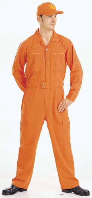 A502橘色連身服