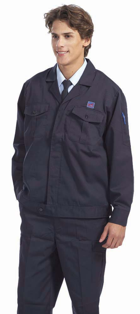深藍工作夾克-(雙層