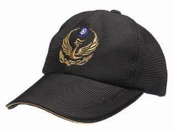 黑網金蔥三明治帽