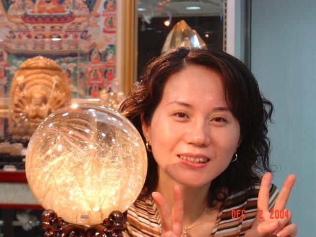 善福-鈦絲水晶球 直
