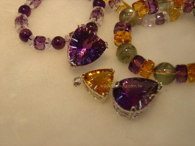 善福-紫晶黃晶項墬