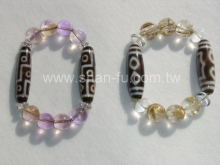 天珠搭配鈦絲及紫黃晶