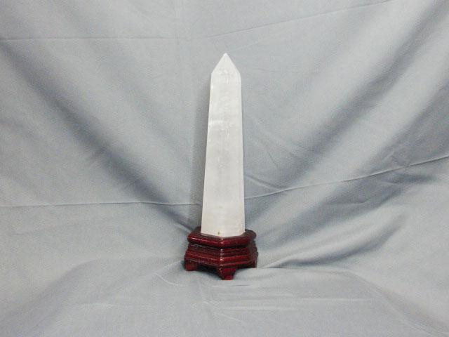 白水晶柱-高25cm