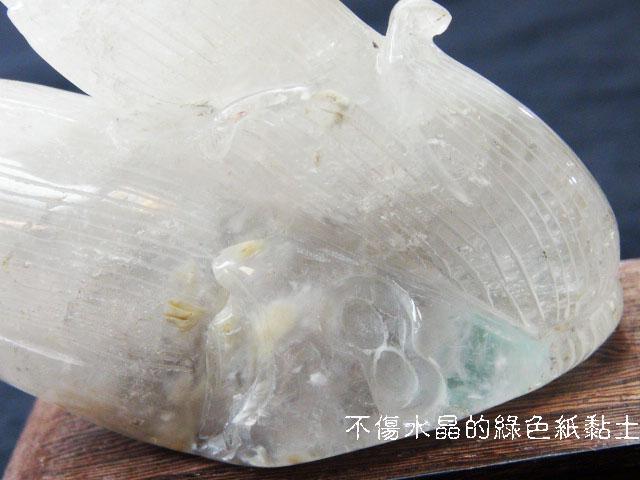 白水晶竹筍節節高升藝品(含座)
