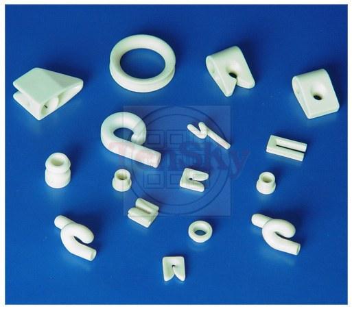 Textile porcelain pieces (white)