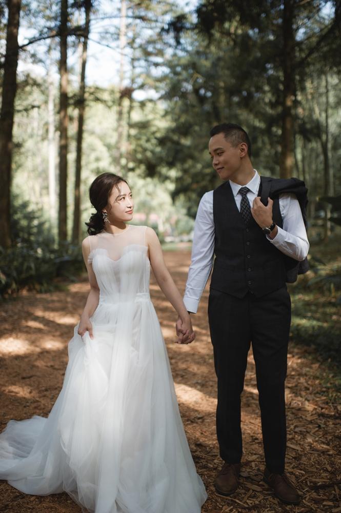 2020 Wedding 自主婚紗 綠色元素 惠蓀林場 W&S婚紗