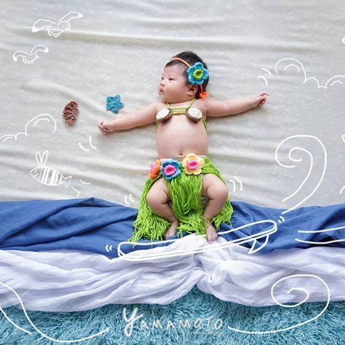 <3~4種變化>新生兒寶貝寫真+拍立得彌月小卡10張