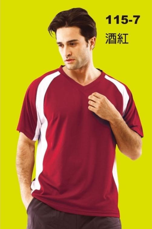 V領排汗T恤
