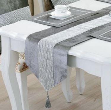 現代簡約桌旗-灰色3