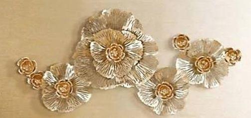P0260-01-C106   立體金屬壁飾-黃金縷A款(貼金萡)